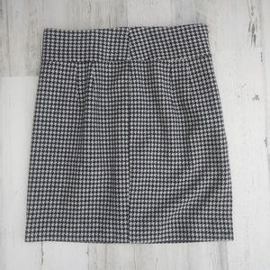 Banana Republic Black And White Wool Blend Skirt